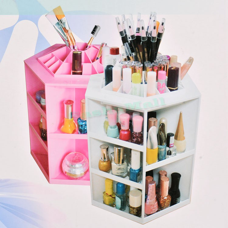 US STOCK Hot Sale Storage Box Desk Decor Stationery Makeup Display Rack Cosmetic Organizer Lipstick Stand Case US50<br><br>Aliexpress