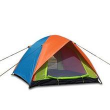 3-4 человек двойной слой анти-ультрафиолетовая водонепроницаемый семьи палатки кемпинга пляж палатка ( случайный цвет )