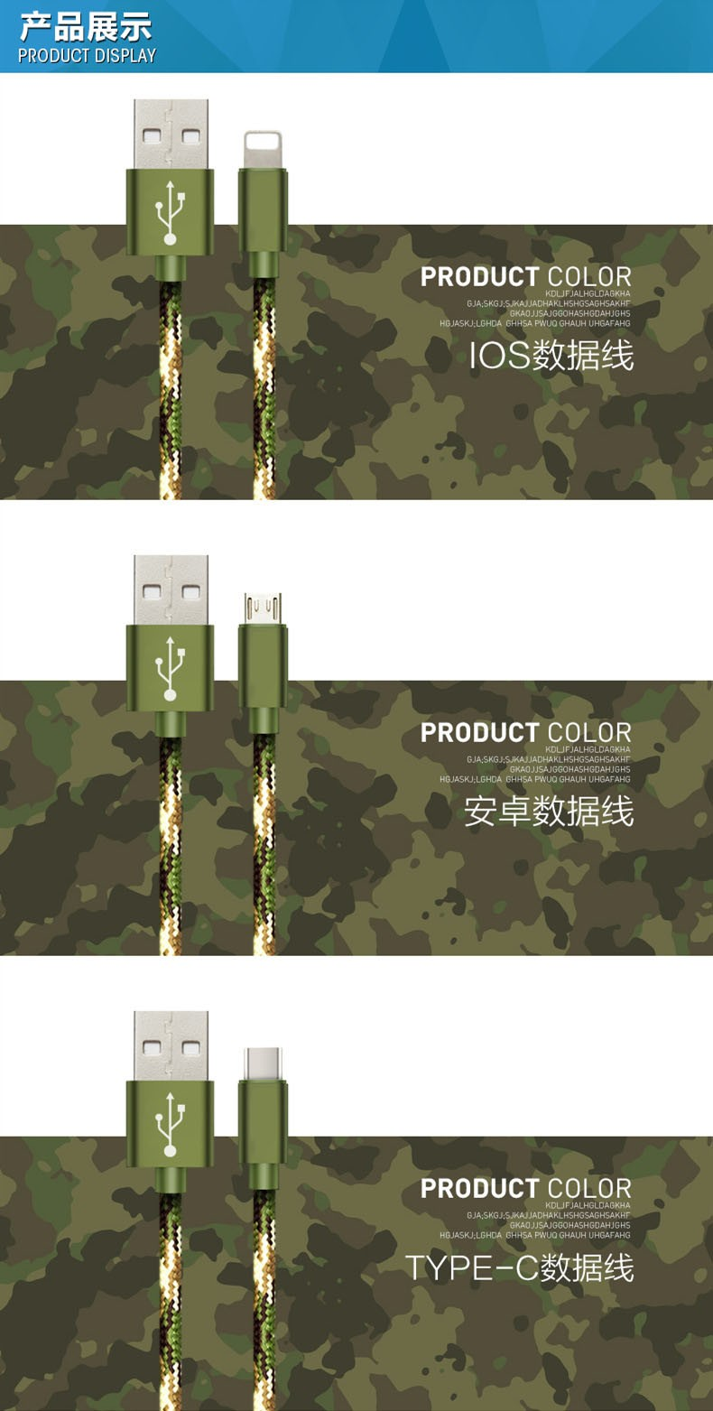 PuJi USB Type-C Cable USB 3.1 Type C USB Data Sync Charge Cable For nexus 5x 6p OnePlus 2 ZUK Z1 xiaomi 4c 5 MX5 Pro