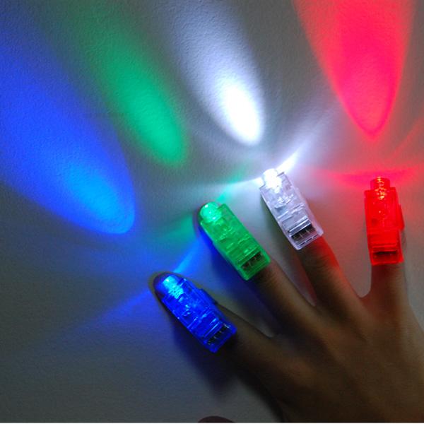 40 pcs LED Finger Light Laser Finger Beams Ring Torch For Party Wedding Celebration mix color(China (Mainland))