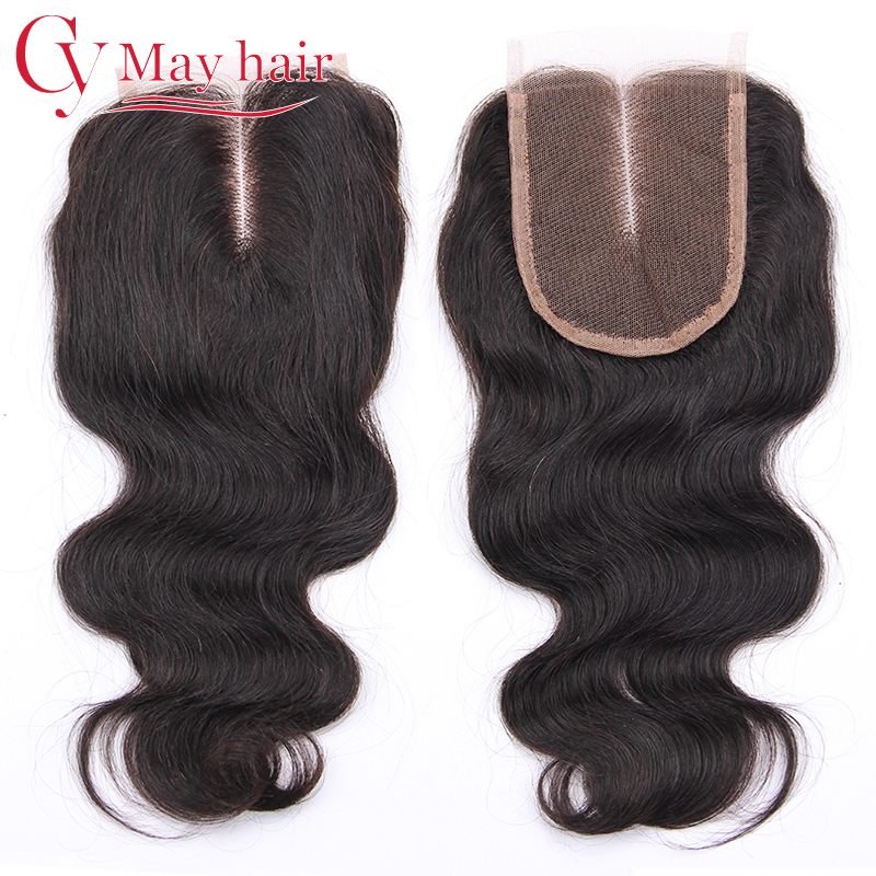 Cheap Brazilian Body Wave Lace Closure Bleached Knots Free Middle 3 Part Closures Virgin Human Hair Top Lace Front Closure Piece(China (Mainland))