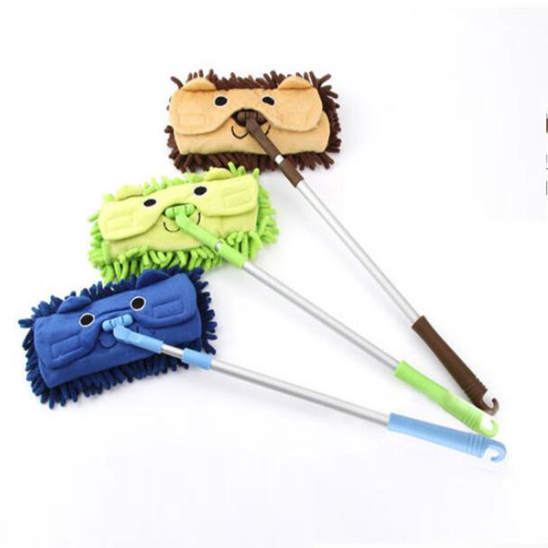 Hot Sell Mini mop handy easy mops floor / car/ window cleaning new chenille telescopic removable dust mop Chenille cartoon(China (Mainland))