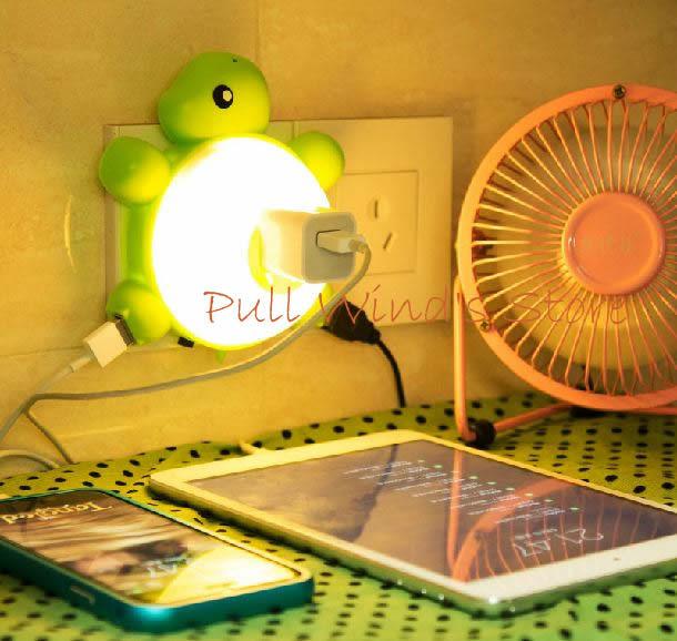 LED light control voice control sensor night light Cute turtle with double HUB function Nightlight nice gift(China (Mainland))