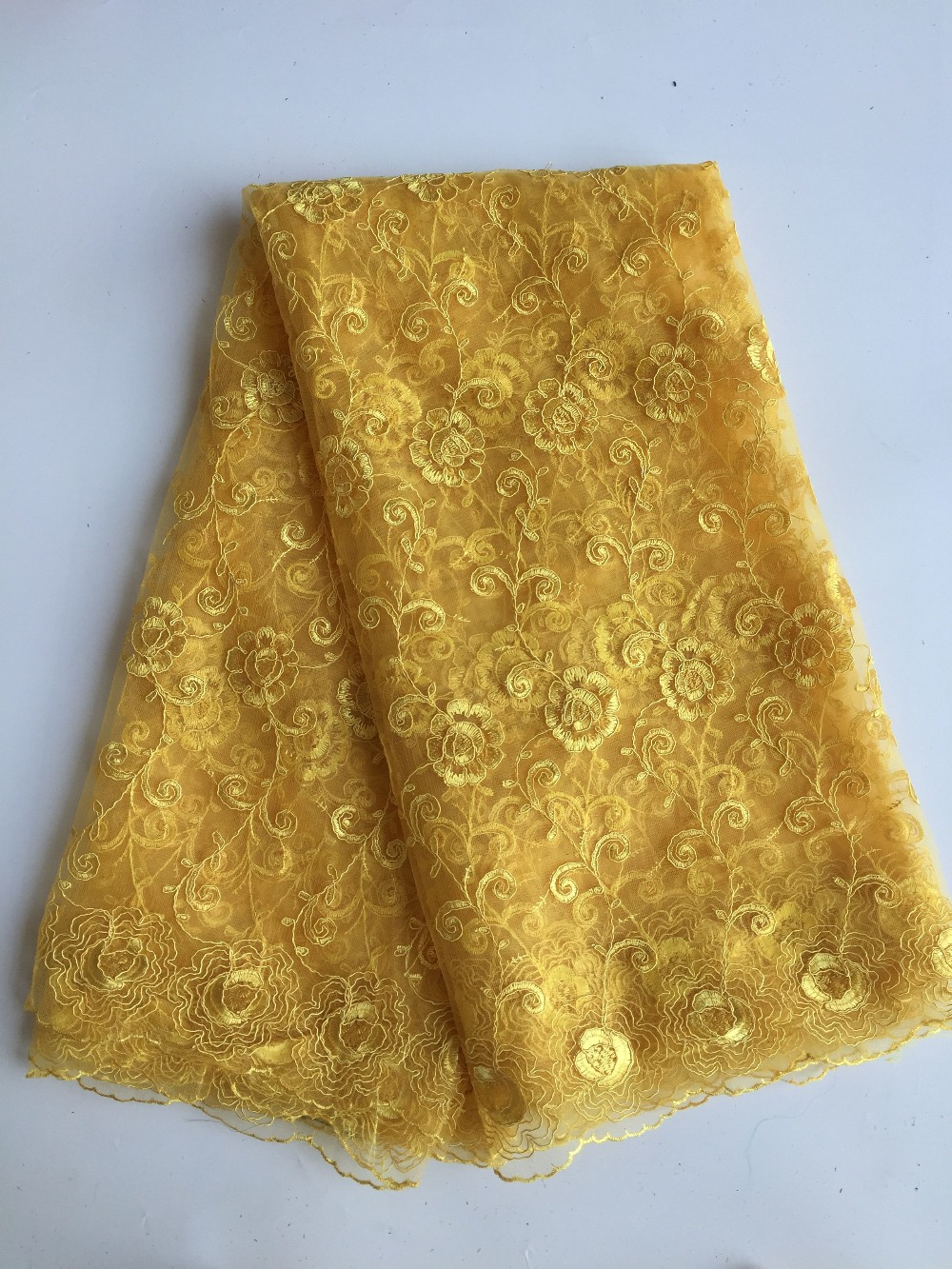 New Arrival African Lace Fabric High Quality Embroidered French net Fabric Swiss Voile Lace for women dress(China (Mainland))