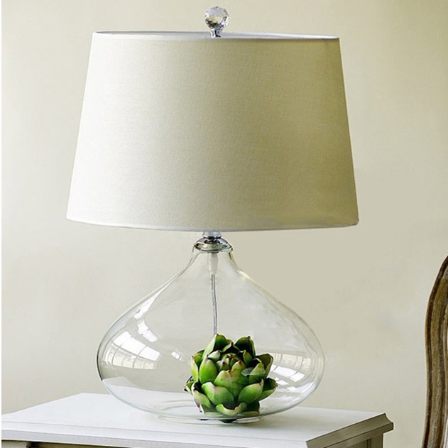 Glass Living Room Table Lamps Modern House
