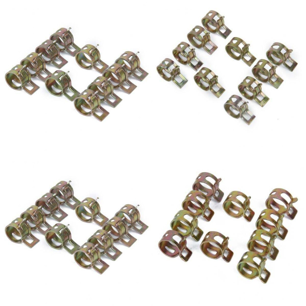 40pcs 10/12/14/15mm Spring Clip Fuel Hose Line Water Pipe Air Tube Clamps(China (Mainland))