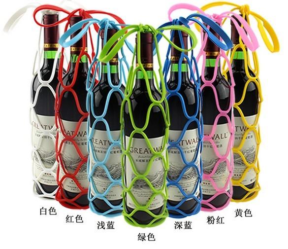 Creative silicone foldable Storage Bag High-grade Red Wine basket 1908(China (Mainland))
