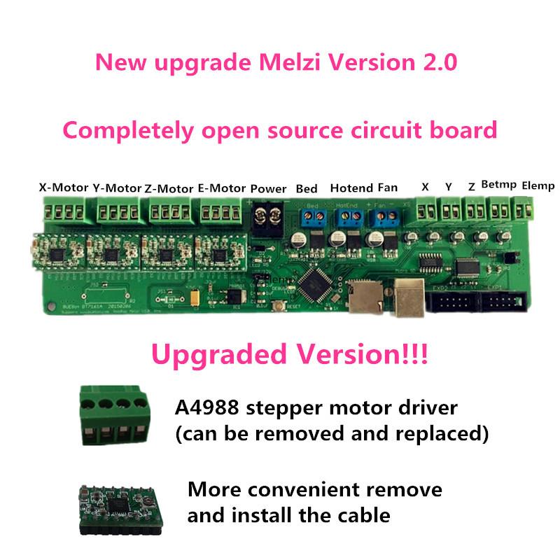 Reprappro Mendel Huxley 3d printer  Melzi 1284P  electronic control panel<br><br>Aliexpress