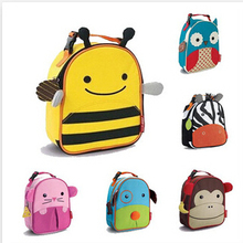 Cartoon Animal Printing Fresh Picnic Bags Children Cute Animal Lunch Bag Kids Outdoor And School Meal package Lunchbox BB034