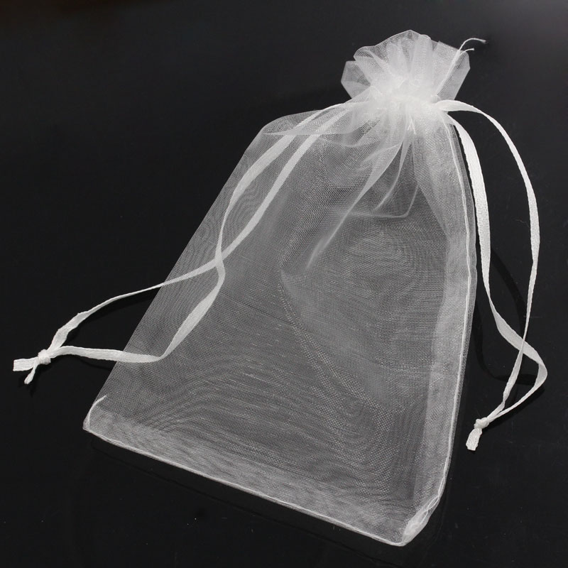 50PCs 10x15cm Organza Wedding Gift Jewelry Bags Pouches White Fine Gifts Package Storage Organizer(China (Mainland))