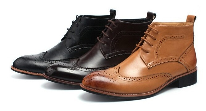 Brogue Boots Office Office Ankle Boots Lace-up
