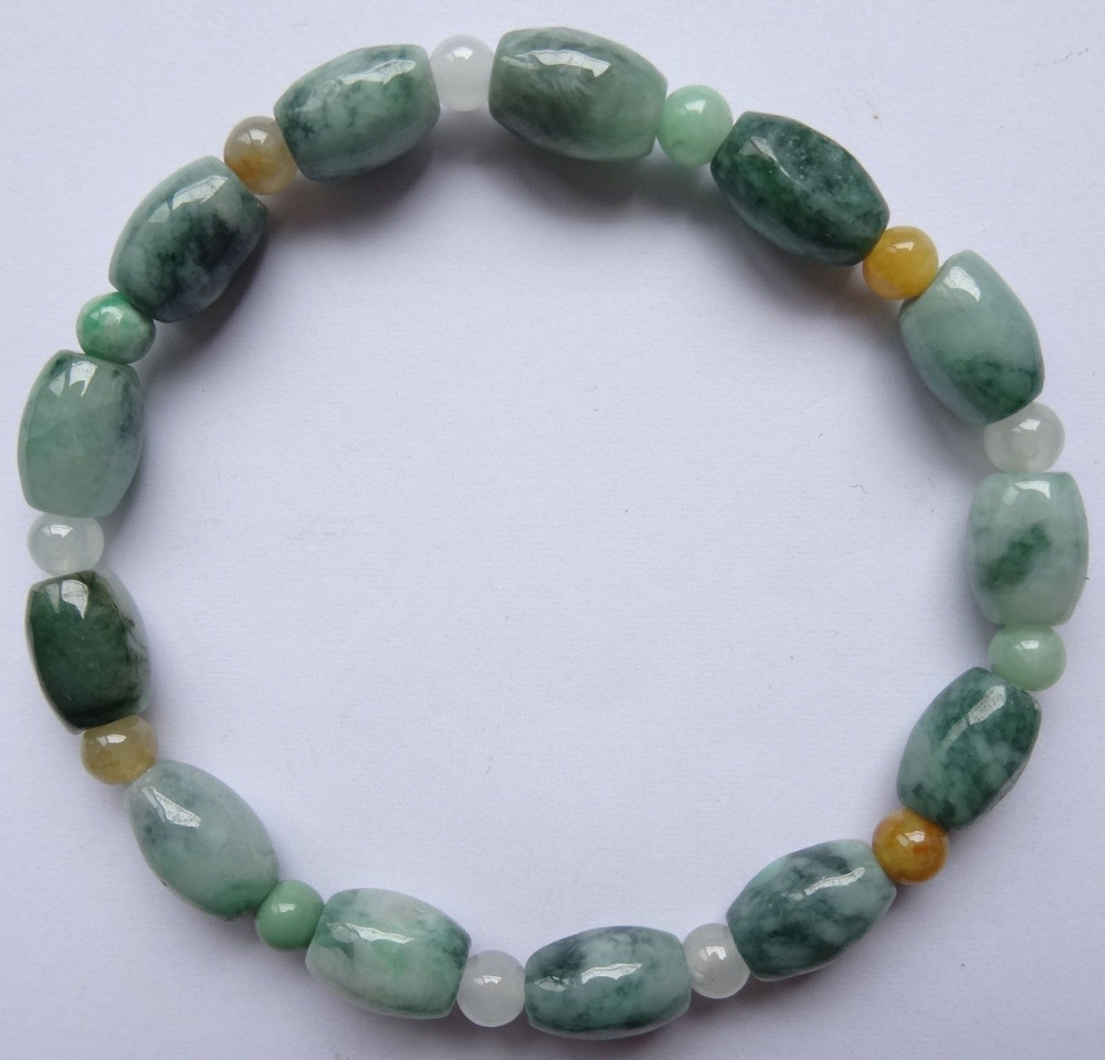 shitou 00614 100% Pure Natural Mixed Color Jade Stone Beads Pearls Jewels Bracelet Decoration<br><br>Aliexpress