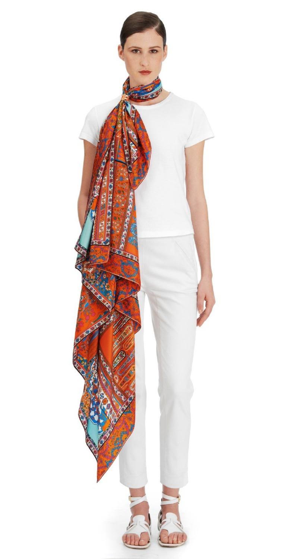 Top Grade Persian Carpets Pattern Heavy Twill Silk Scarf ,Women's Luxury Temperament Square Scarves Shawl Cape Big Size 140cm(China (Mainland))