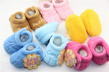 Free Shipping 12 pair Baby/Infant/Toddle Crib Shoes, Fashion Warm Winter soft shoes, Super Quality