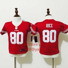 baby San Francisco 49ers children 16 Joe Montana 42 Ronnie Lott 80 Jerry Rice 82 Torrey Smith 81 Anquan Boldin,camouflage(China (Mainland))