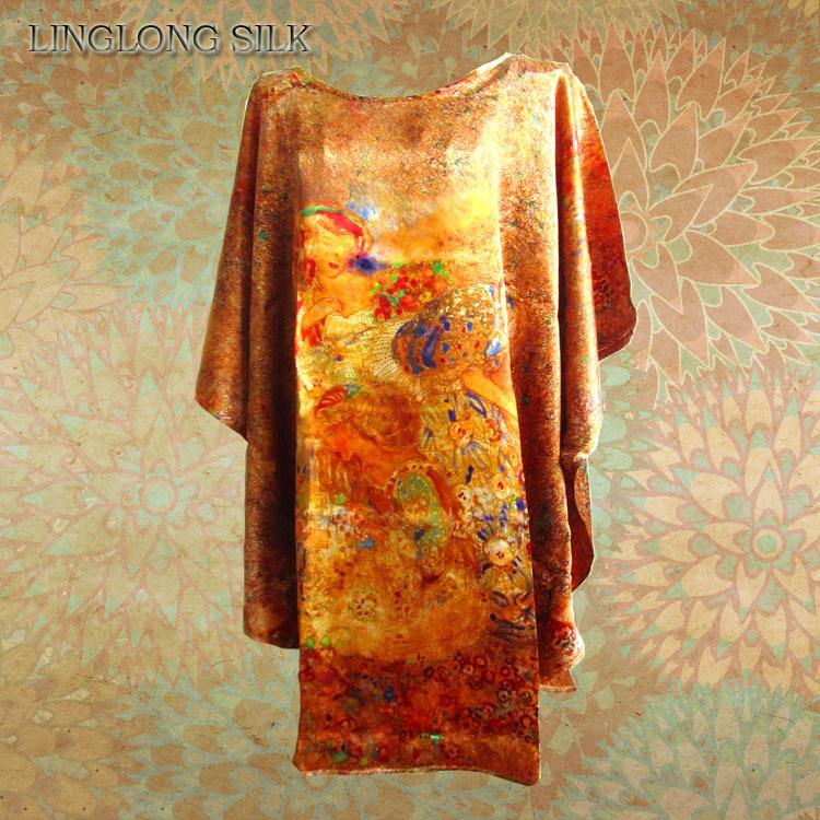 Buy Print Silk Bat T Shirt 100 Natural