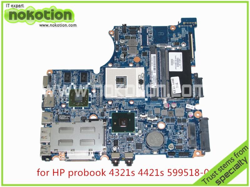 ноутбук материнская плата для HP ноутбука ProBook 4321s 4421s 599518-001 от ATI мобильности Radeon серии HD 5430 памяти DDR3