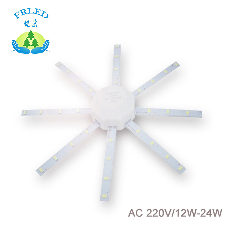 FRLED LED Light board Celling Lamp Tube Energy Saving Lamp 5730SMD 12w/16w/20w/24w High Bright White Octopus Board Round lamp(China (Mainland))