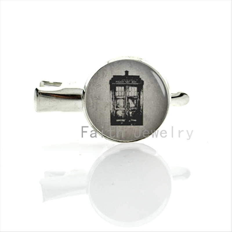 Vintage Doctor Who's Tardis hairgrips retro black white style 2016 unique design women accessories hair clip pins jewelry T136(China (Mainland))