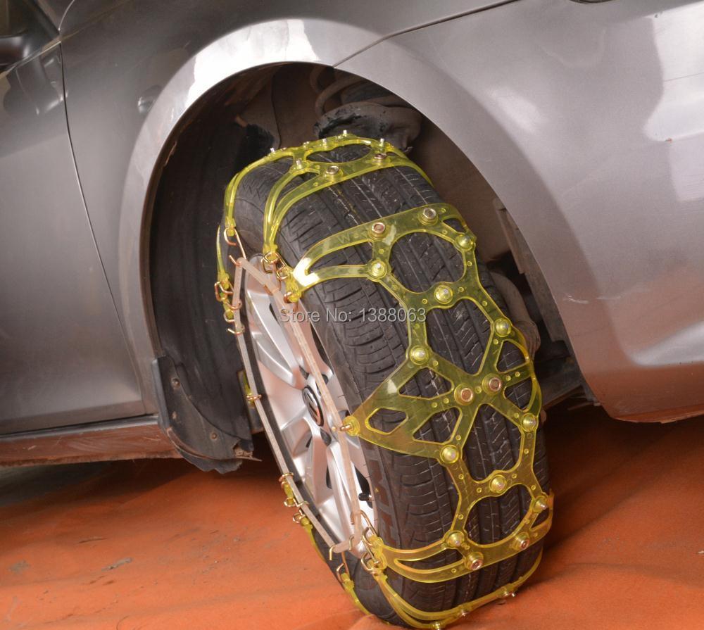 Утолщение зимние шины колеса автомобиля цепочки снег небуксующий цепочки высокой чистоты тпу универсальный цепи
