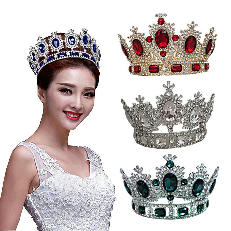 2015 royal crown gold/silver rhinestone tiara head jewelry quinceanera queen crown bride wedding mariage hair accessories<br><br>Aliexpress
