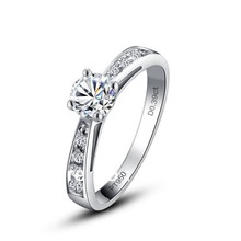 Free shipping European and American fashion 9K Ba Jin eight heart eight arrows diamnd ring wedding rings with certificate(China (Mainland))