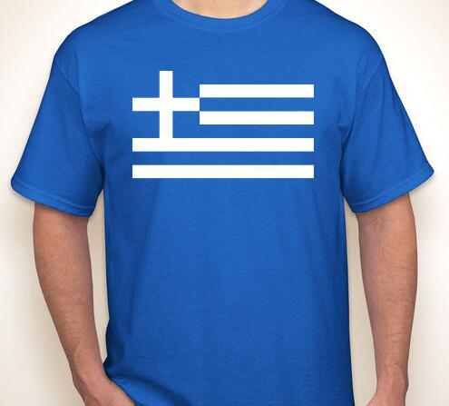 GREEK FLAG Greece born/made in olympics/yogurt sky blue white T-shirt(China (Mainland))