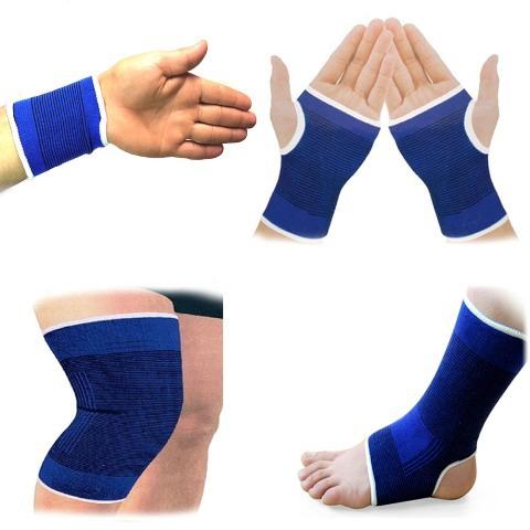 Free Shipping 2 x Elastic Sport Sweatbands Wrist Sweat Bands Fitness GYM Wristband/Ankle/Leg/Hand Band #gib(China (Mainland))
