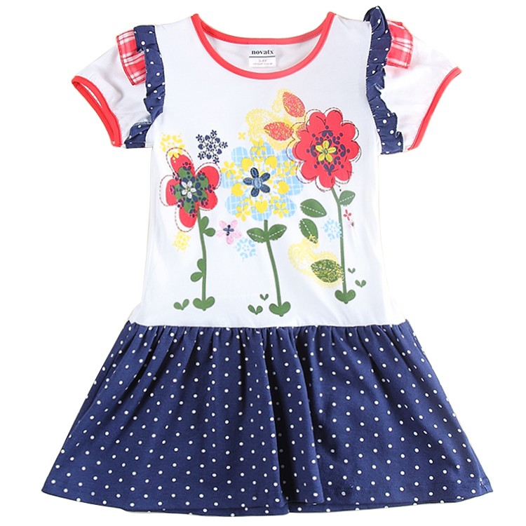 girl dress for girl short sleeve dress embroidery summer 2016 cotton dress kids clothes<br><br>Aliexpress