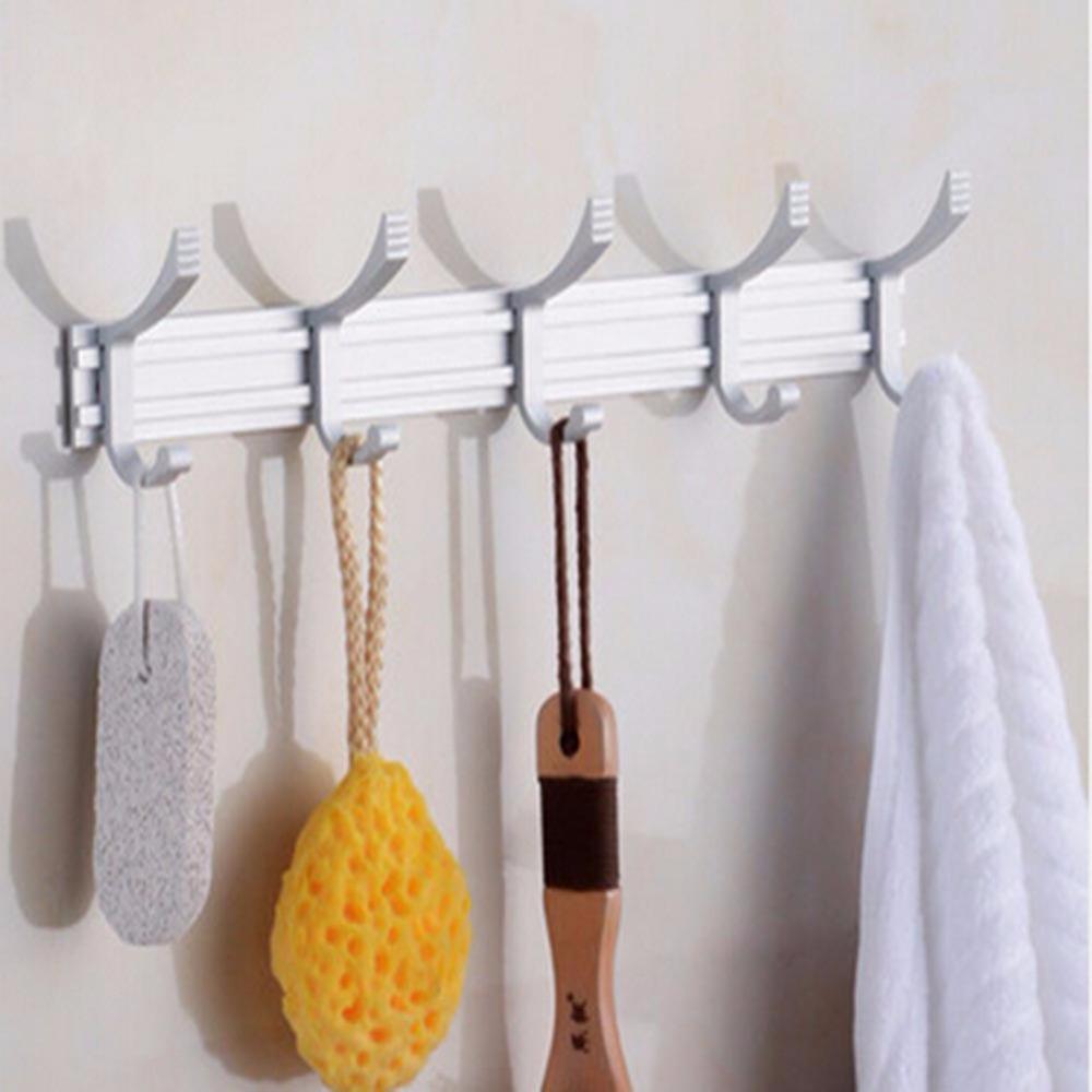 Family Kitchen Bath 10 Hook Coat Hat Bag Modern