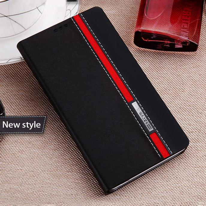 huawei honor u8860 case High taste gorgeous luxury Double color collision Mobile phone back cover flip popular leather cases(China (Mainland))