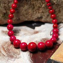 Beautiful Quality Glossy Rosy Coral Chunky Beads Charming Big Balls Original Classical Simple Elegant Necklace Ethnic Jewelry(China (Mainland))