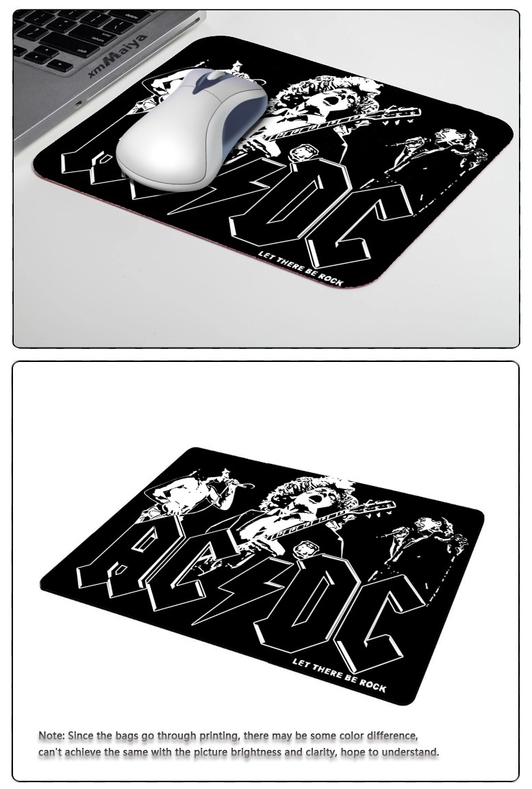 Fashion Fresh Design Forever Rock Band  AC/DC Series Mouse Mats Anti-Slip Rectangle Mouse Pad Customized Supported Anti Slip