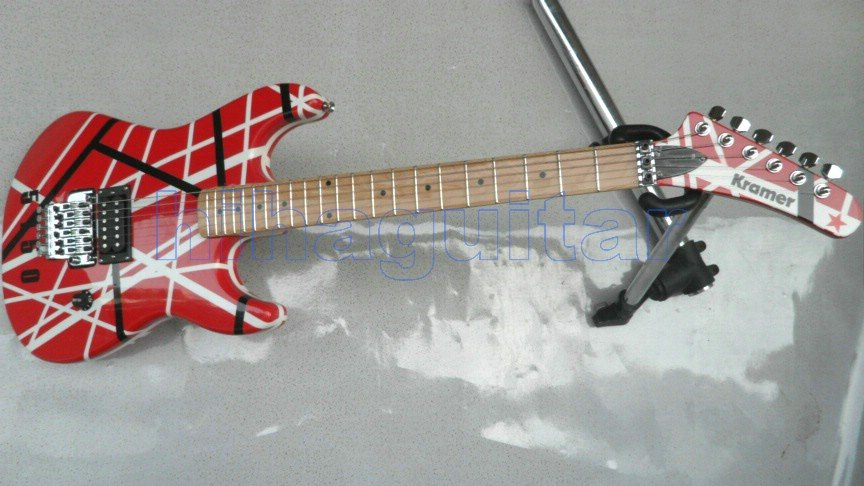Brand new E V H kra mer VAN HALEN 5150 BLACK AND RED ELECTRIC GUITAR FREE SHIPPING(China (Mainland))