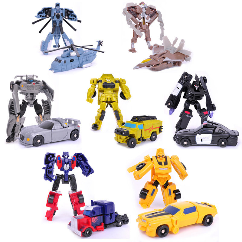 7pcs Transformation Kids Classic Robot Cars Toys For Children Action & Toy Figures Rescue Bots WJ058(China (Mainland))