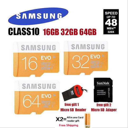 100% Original Genuine Samsung C10 EVO Micro sd/sdhc card /TF 32GB microSD Card max read speed to 48mb/s Free shipping(China (Mainland))