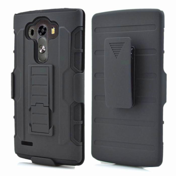 Premium Belt Clip Holster Kick Stand Military Defender Fulll body Rugged Dual Layer Hybrid PC Protective Cover Case For LG G4(China (Mainland))