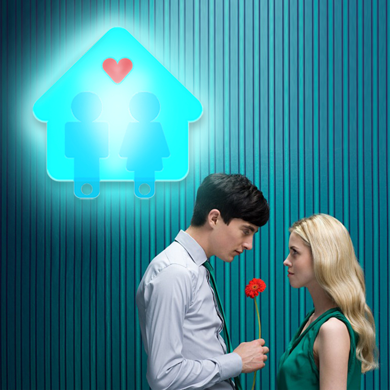 Free Shipping HGHomeart Love couple of small cottages night light led energy saving lamp night light small boutique creative bir(China (Mainland))