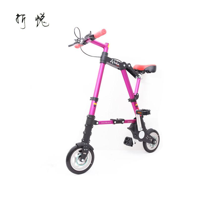 2014 New Orginal A-bike8 folding bicycle folding bike mini portable mini ultra-light bicycle Free Shipping(China (Mainland))