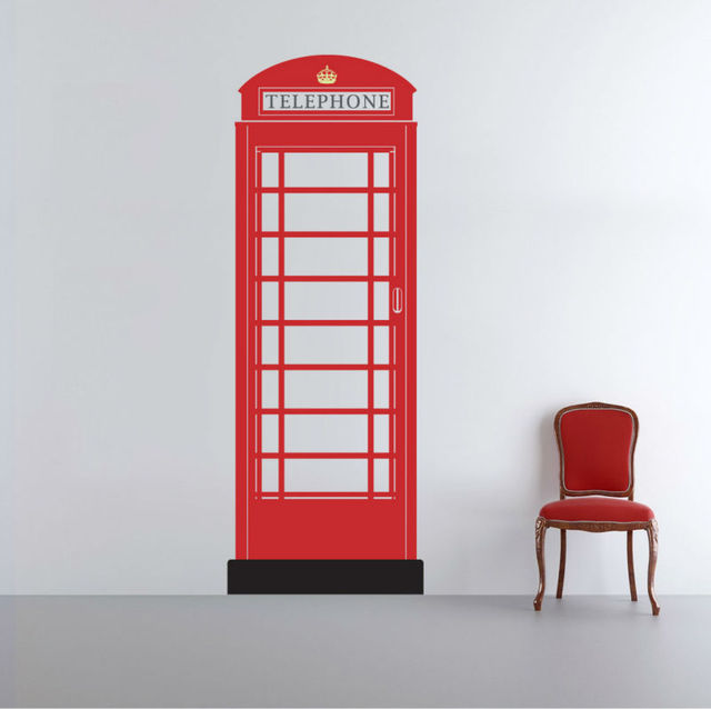 Free Shipping Vinyl Decal Telephone Booth