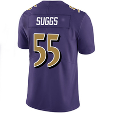 Adult 55 Terrell Suggs #5 Joe Flacco Jersey Men's 57 C.J. Mosley #89 Steve Smith Sr #32 Eric Weddle Purple Rush Limited Jerseys(China (Mainland))