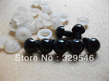 15 PAIRS 12mm Safety Black Eyes Toy Eyes for Crochet doll Amigurumi Teddy Bears