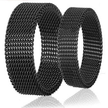 Titanium steel fashion personality deformation of soft mesh engraved ring Mini mixed batch of Men's jewelry wholesale 52