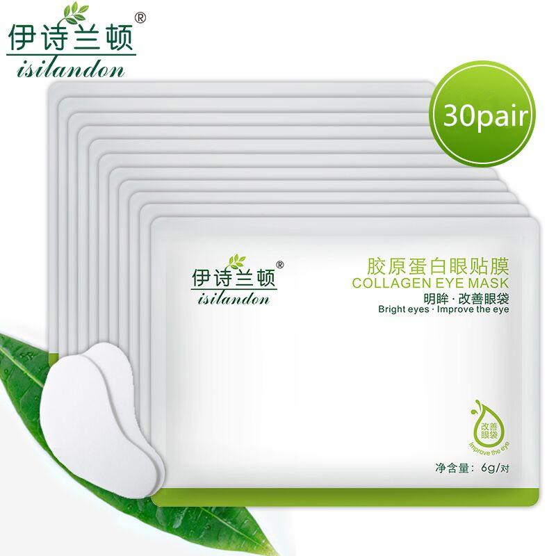 ISILANDON Collagen Firming Anti Wrinkle Eye Mask Ageless Sleep Mask Dark Circles Face Care Mask To Face Skin Care Whitening(China (Mainland))