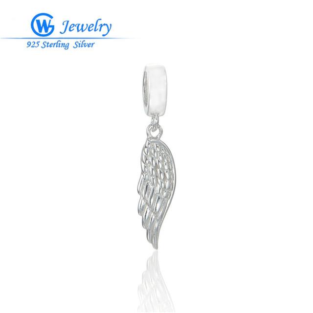 Женщины оригинальные бусы серебро 925 крыло подвески стерлингового серебра ювелирные ...