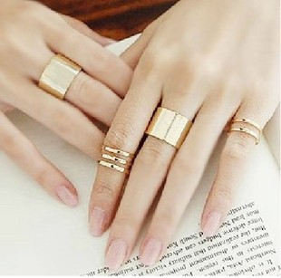 wholesale women 3Pcs/Set Fashion Trendy Top Of Finger Over The Midi Tip Finger Above The Knuckle Open Ring Fashion Jewelry R0001(China (Mainland))