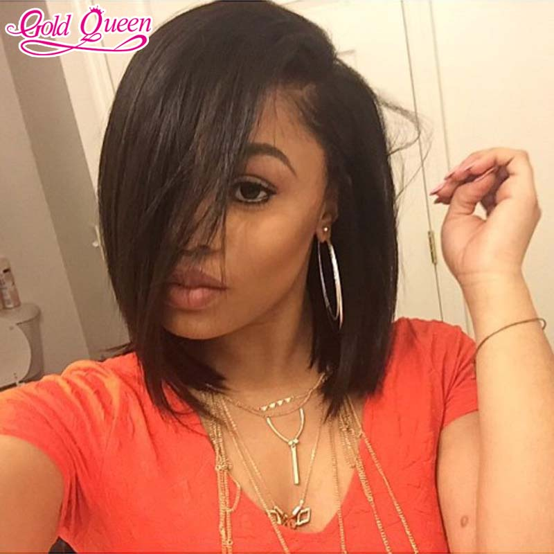 short human hair wigs 7a top quality straight cambodian virgin hair full lace wig glueless lace front wig super deals of the day<br><br>Aliexpress