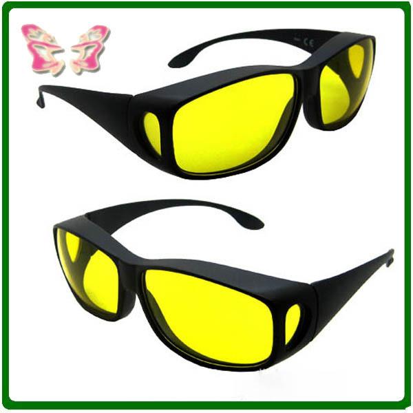 Wraparound Glasses Driving Glasses SunGlasses Wrap Arounds Unisex(yellow,black)(China (Mainland))