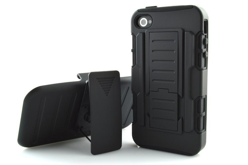 New 2015 Black Case For Apple iphone 4 4g 4s Future Armor high Impact Stand Belt Clip Holster Kickstand Swivel Holder hard Case(China (Mainland))