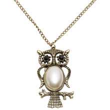 Fashion Unique Women's Men's Owl Design Antique Gold Plated Necklace sautoir Pandent Long Chain Sweater Jewelry Gift - Great Day for You store